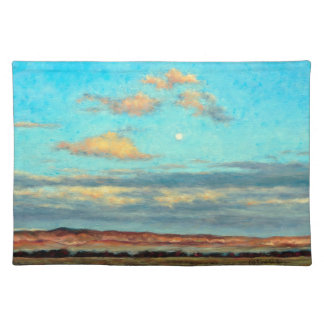 Full Moon at Dusk 1 Sided Cotton Placemat