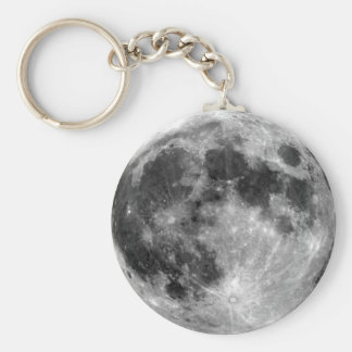 Full Moon Basic Round Button Key Ring