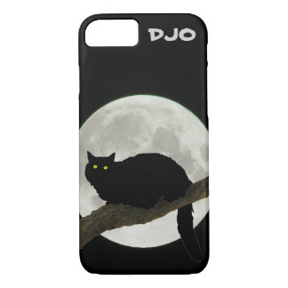 Full Moon Black Cat on a Branch iPhone 7 Case