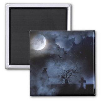 FULL MOON BLUES! (howling wolf) ~ Fridge Magnet