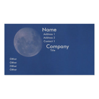 Full Moon Double-Sided Standard Business Cards (Pack Of 100)