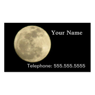 Full Moon Business Card Template