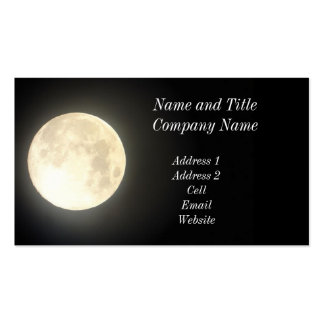 Full Moon Business/Profile Card Pack Of Standard Business Cards
