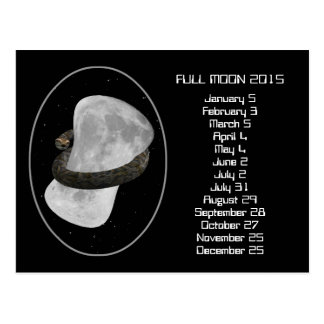 Full Moon Calendar 2015 Postcard
