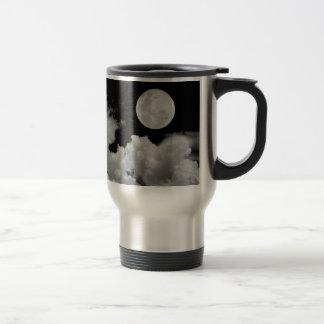 FULL MOON CLOUDS BLACK AND WHITE COFFEE MUG