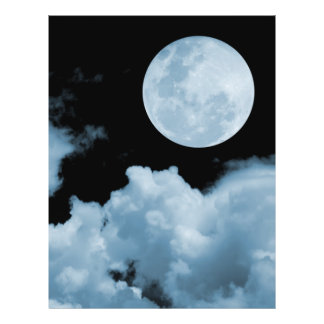FULL MOON CLOUDS BLUE FLYER