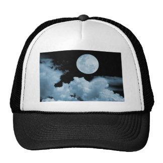 FULL MOON CLOUDS BLUE HATS