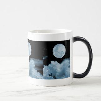 FULL MOON CLOUDS BLUE COFFEE MUG