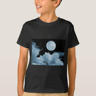 FULL MOON CLOUDS BLUE T-Shirt