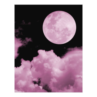 FULL MOON CLOUDS PINK 21.5 CM X 28 CM FLYER