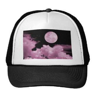 FULL MOON CLOUDS PINK MESH HATS