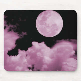 FULL MOON CLOUDS PINK MOUSE PADS