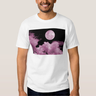 FULL MOON CLOUDS PINK T SHIRTS