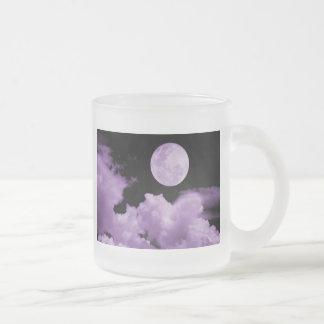 FULL MOON CLOUDS PURPLE COFFEE MUG
