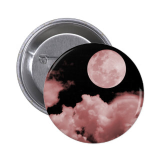 FULL MOON CLOUDS RED 6 CM ROUND BADGE