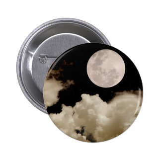 FULL MOON CLOUDS SEPIA 6 CM ROUND BADGE