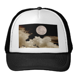 FULL MOON CLOUDS SEPIA TRUCKER HATS