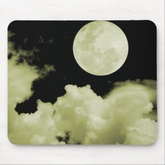 FULL MOON CLOUDS YELLOW MOUSEPADS