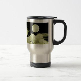 FULL MOON CLOUDS YELLOW COFFEE MUGS