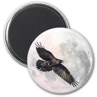 Full Moon Crow Magnet
