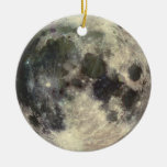 Full Moon Double-Sided Ceramic Round Christmas Ornament