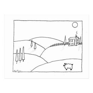 Full Moon Farm Postcard