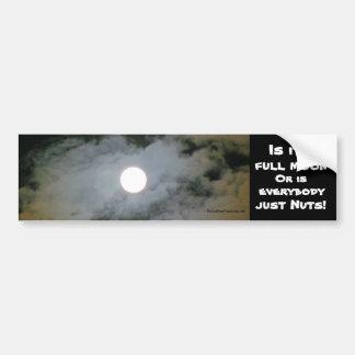 Full Moon Funny Bumper Sticker