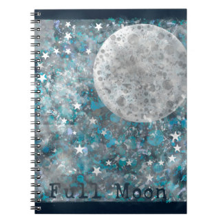 Full moon galaxy and stars notebooks
