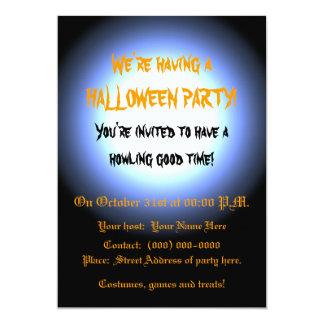 Full Moon Halloween Party 13 Cm X 18 Cm Invitation Card