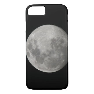 Full moon in black and white. Credit as: Arthur iPhone 7 Case