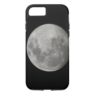 Full moon in black and white. Credit as: Arthur iPhone 8/7 Case