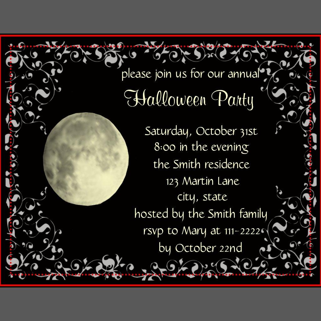 Full Moon Cards Full Moon Invitation Card