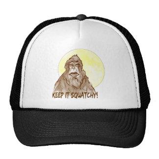 Full Moon KEEP IT SQUATCHY - Bigfoot Researcher's Trucker Hat