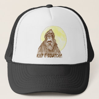 Full Moon KEEP IT SQUATCHY - Bigfoot Researcher's Trucker Hat