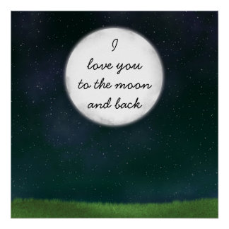 Full Moon Love You Poster