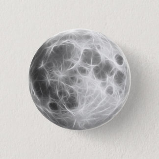 Full Moon Lunar Planet Globe 3 Cm Round Badge