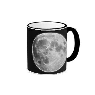 Full Moon Lunar Planet Globe Ringer Mug