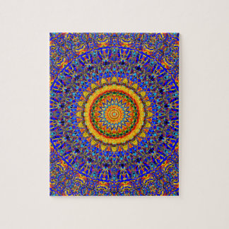 Full Moon Mandala Kaleidoscope Jigsaw Puzzle