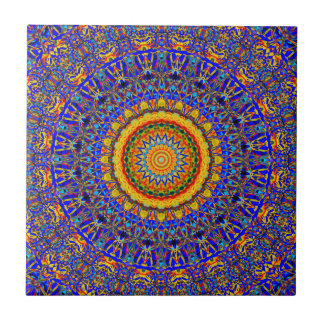 Full Moon Mandala Kaleidoscope Tile