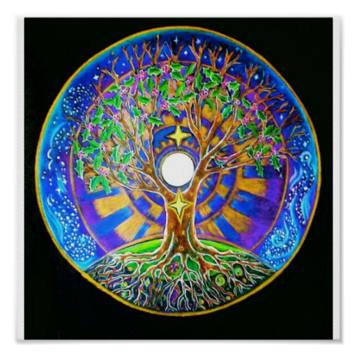 Full Moon Mandala Poster
