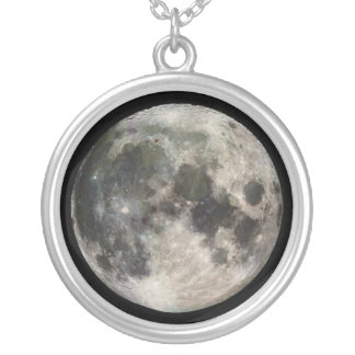 Full Moon Round Pendant Necklace