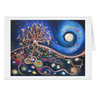 Full Moon Night Fine Art Card