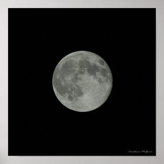 Full Moon Night Sky Supermoon Space Poster