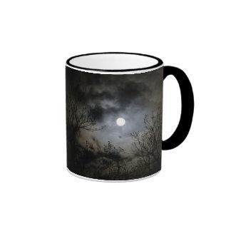 Full Moon on a Mystical Dark Night Ringer Coffee Mug