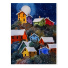 Full Moon on Hillside Houses Pittsburgh PA Postcard