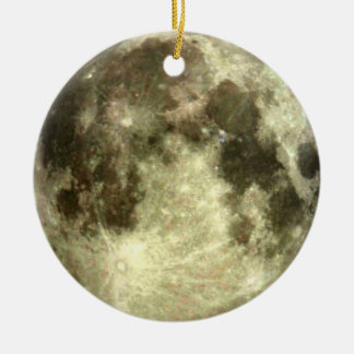 Full moon ornament. round ceramic decoration