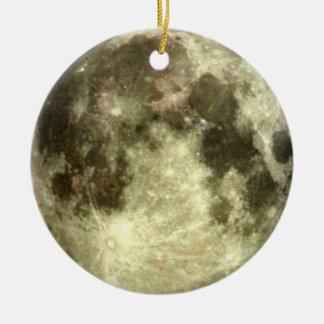 Full moon ornament. round ceramic decoration