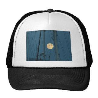 Full Moon Over A Marina Hats