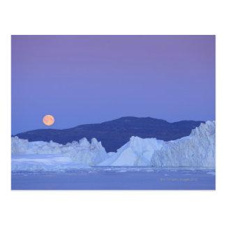 Full Moon Over Iceberg Postcard