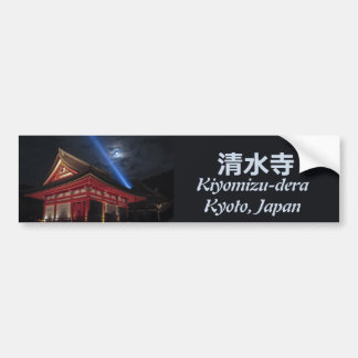 Full Moon Over Kiyomizu-Dera Bumper Sticker